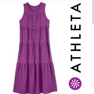 Purple athleta Long dress